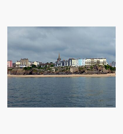 Looking Back at Tenby Photographic Print