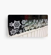 Home for Christmas Shop Window Canvas Print
