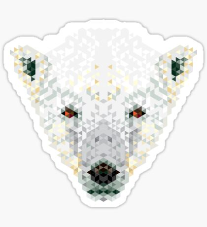 Triangle Pixels - Polar Bear Sticker