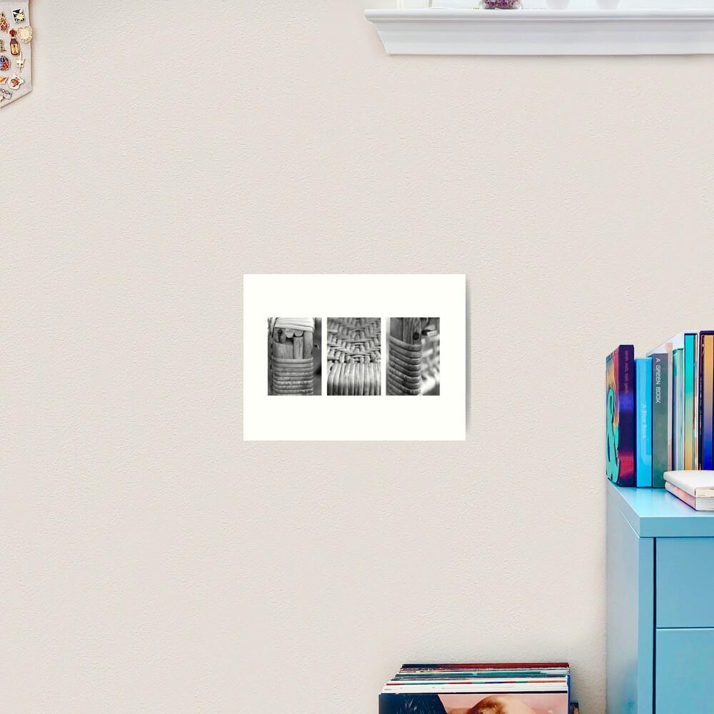 Cane Chair Art Print