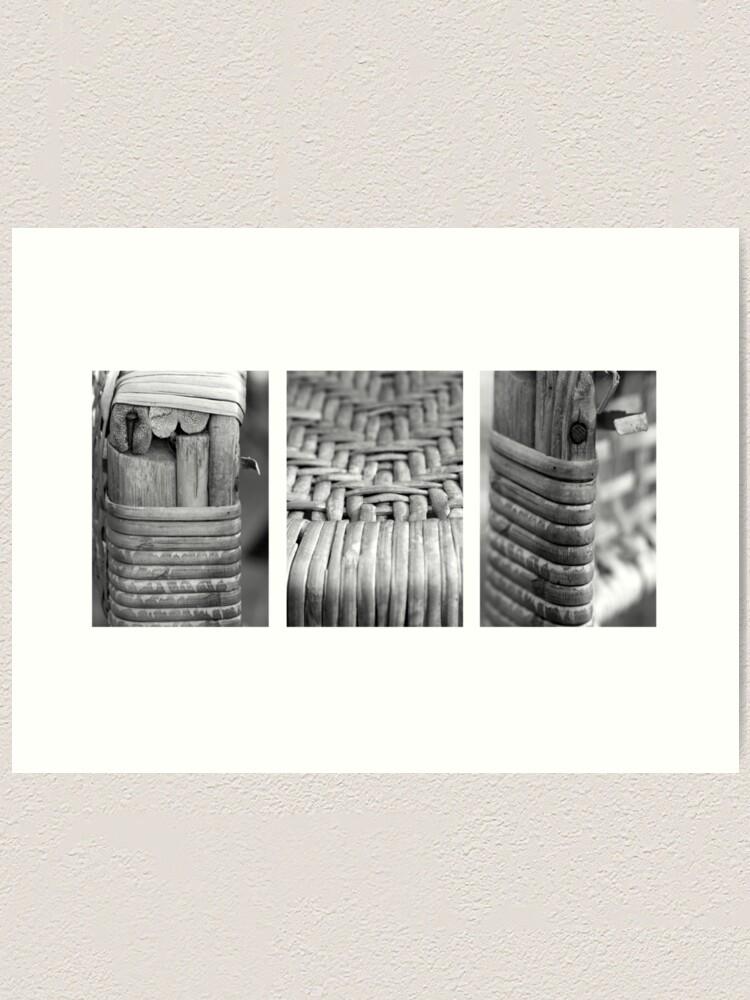 Alternate view of Cane Chair Art Print