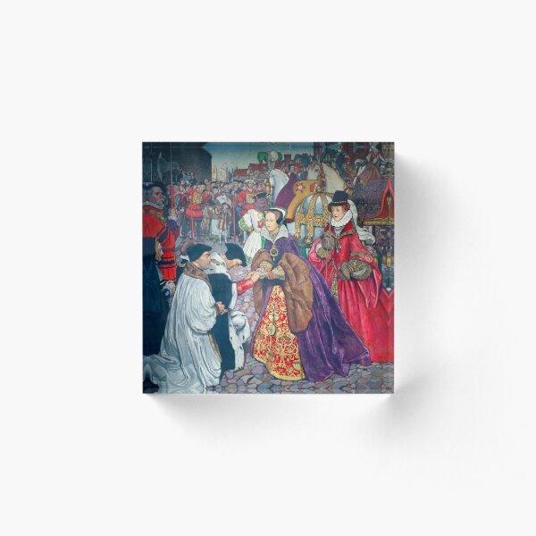 Queen Mary Tudor Portrait by Hans Eworth Acrylic Block