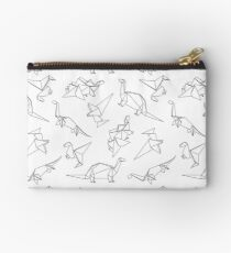 Origami Dinosaurs Zipper Pouch