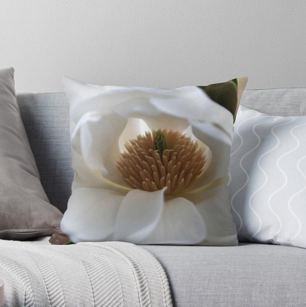 Evergreen Magnolia Throw Pillow