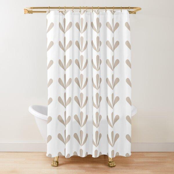 Nefrit (White) Shower Curtain
