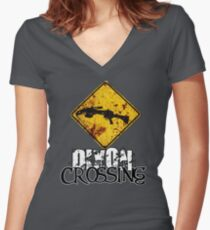 Dixon Crossing Women's Fitted V-Neck T-Shirt