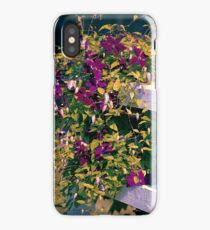 Clematis On A Corner Fence iPhone Case