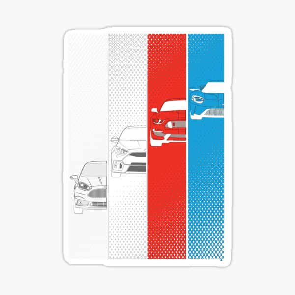 Ford Performance - Color - 71 Pegatina