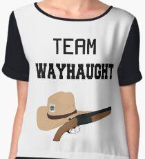 Team WayHaught [Black] Chiffon Top