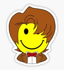 Happy Dr. Who Face Sticker