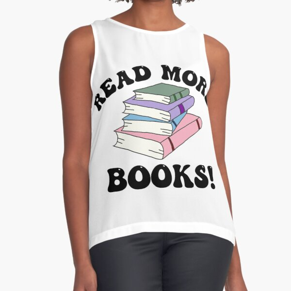 Read More Books - Book Stack Sleeveless Top