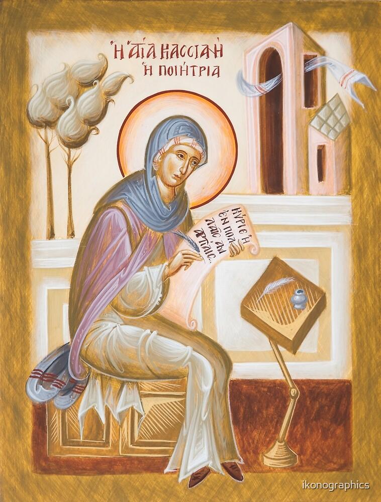 St Kassiani the Hymnographer by ikonographics