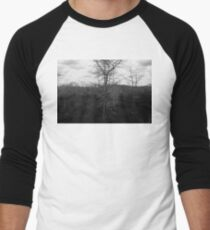 Winter Cypress Trees Men's Baseball ¾ T-Shirt