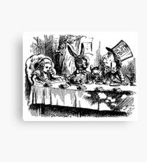 Vintage illustration Alice's Adventures in Wonderland  Canvas Print