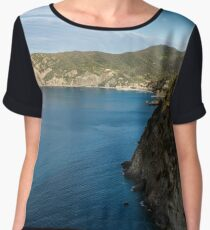 Monterosso and the Cinque Terre Coast Women's Chiffon Top