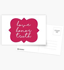 Love Honor Truth Postcards