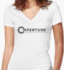 Aperture Laboratories Women's Fitted V-Neck T-Shirt