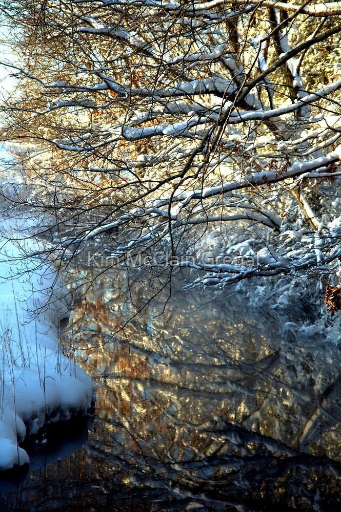 Snowy Creek Reflection by Kim McClain Gregal