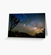 Camelopardalid Meteor Strike Over Joshua Tree Milky Way Greeting Card