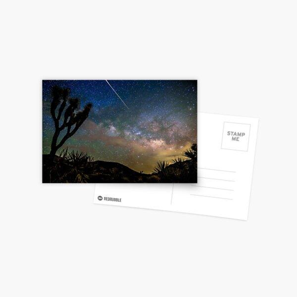 Camelopardalid Meteor Strike Over Joshua Tree Milky Way Postcard