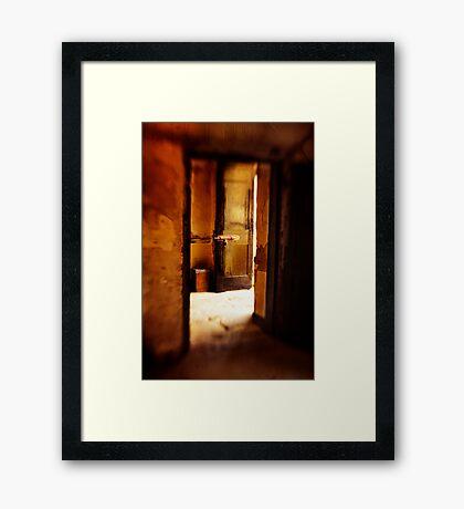 The portal Framed Print