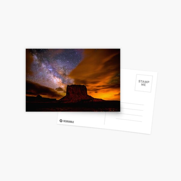 Amazing Milky Way Over Monument Valley Storm  Postcard