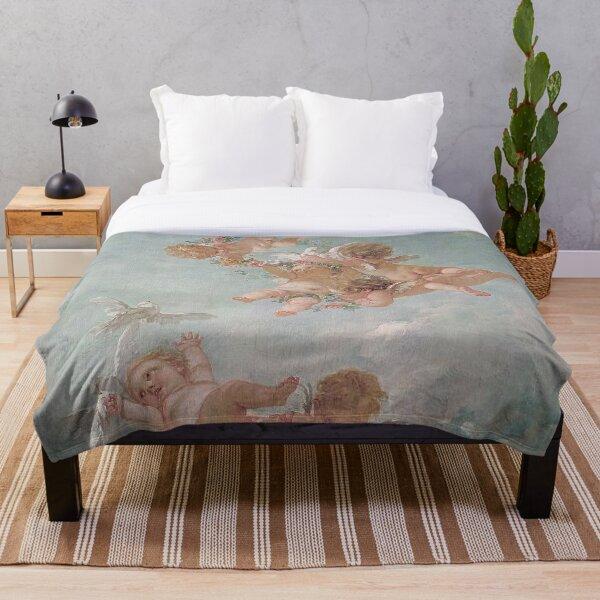 Cherubs Renaissance Aesthetic Throw Blanket