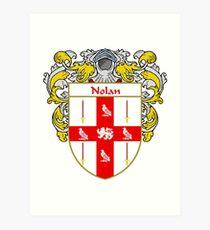Nolan Coat of Arms/Family Crest Art Print