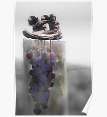 Surreal Montage Print - Grapes of Wrath Poster