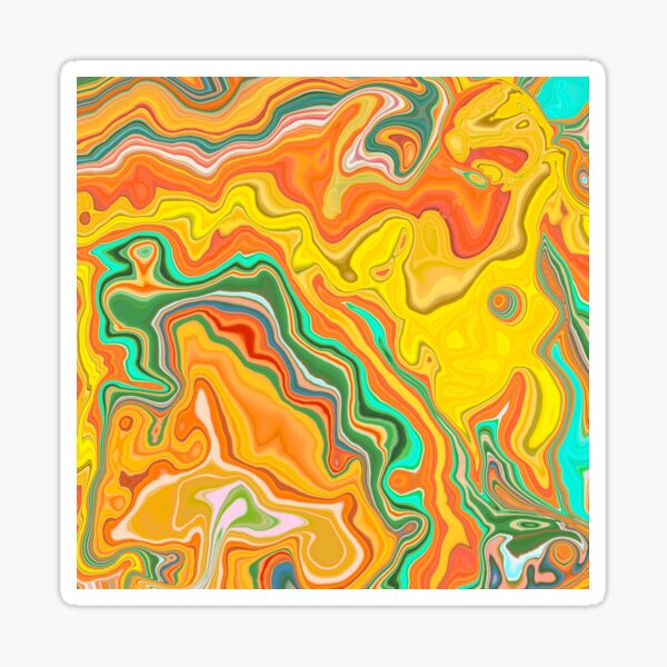 Abstract neon holographic fluid texture background Sticker