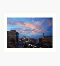 Vegas - Sunset on the Strip Art Print