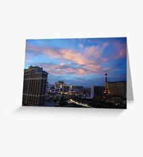 Vegas - Sunset on the Strip Greeting Card