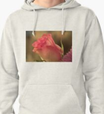 Soft Pink and White Rose, As Is Pullover Hoodie