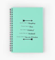 Gossip Girl traits design Spiral Notebook