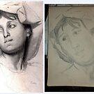 Female Head/Degas Copy -(310516)- Graphite stick/A4 sketchbook by paulramnora