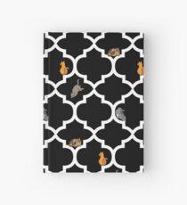 Katzen auf einem Gitter - schwarz Notizbuch
