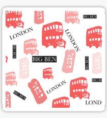 pattern with London symbols. Sticker