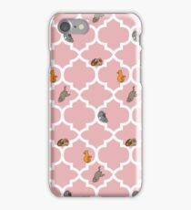 Cats On A Lattice - Pink iPhone Case/Skin