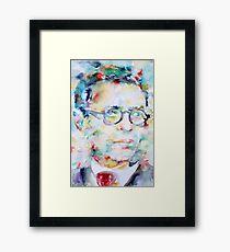 SARTRE - watercolor portrait Framed Print