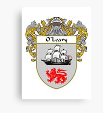 O'Leary Coat of Arms / O'Leary Family Crest Canvas Print