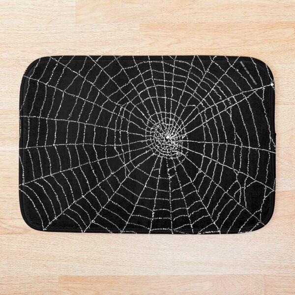 Cobweb spiderweb motif Bath Mat