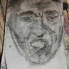 Male Head/Gargoyle/Copy -(300516)- Black biro pen/A5 sketchbook by paulramnora