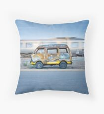 As the world passes by Throw Pillow