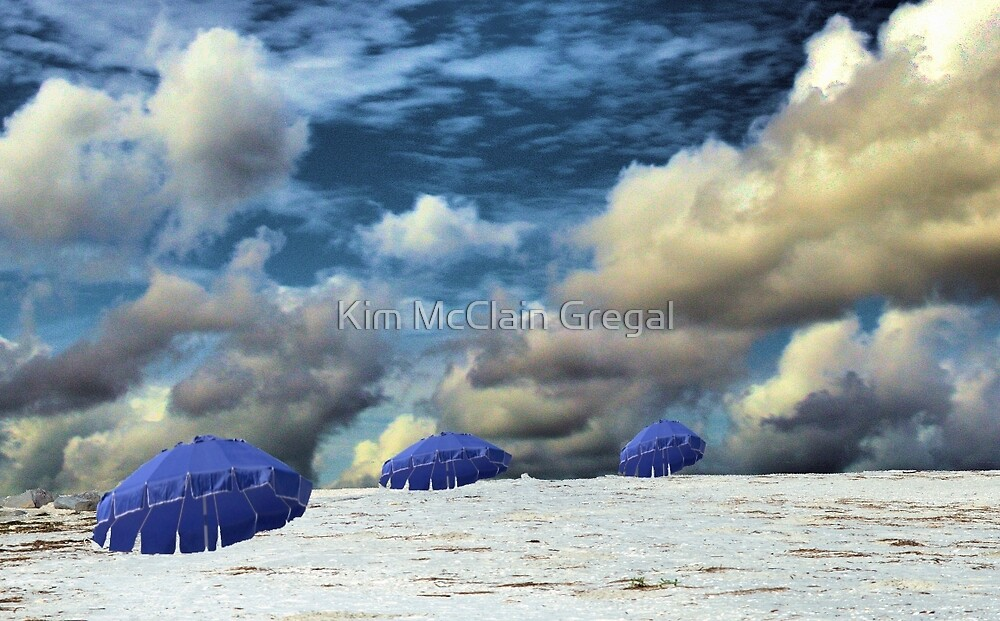 Beach Umbrellas by Kim McClain Gregal