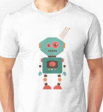 Fun Retro Robot Art T-Shirt