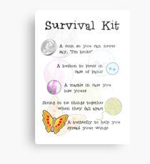 Survival Kit Metal Print