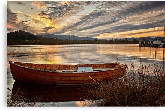 Wooden Dinghy, Franklin, Tasmania by Chris Cobern