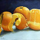 Ready for Oranges still life painting by LindaAppleArt
