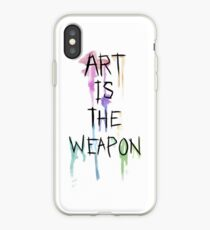 Art Is The Weapon iPhone Case