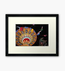 Swing Ride in Action Framed Print